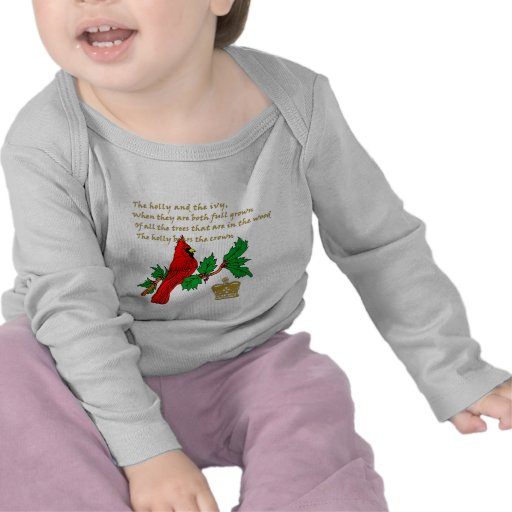 Holly and the Ivy Illustrated on Apparel & Gifts T-shirt