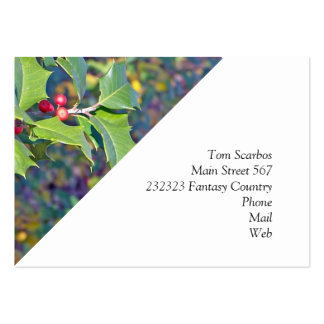 holly berrie nature business card template