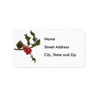 Holly Berries Address Label