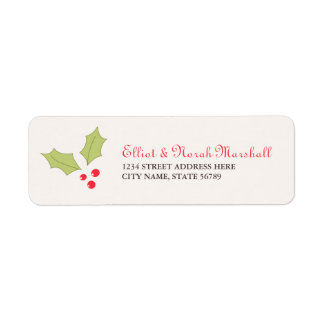 Holly Berries Address Labels