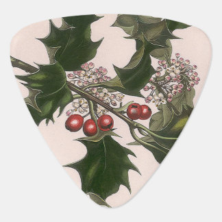 holly berries guitar pick