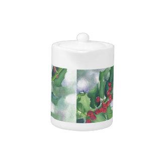 Holly & Berries Holiday Tea Pot