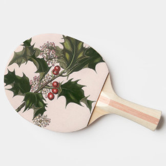 holly berries ping pong paddle