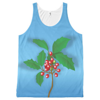 Holly Berry All-Over-Print Tank Top