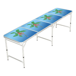 Holly Berry Beer Pong Table