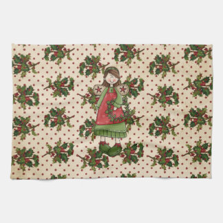 Holly Berry Christmas towel