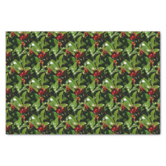 Holly Berry Christmas Wrapping Paper