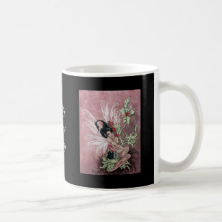 Holly Berry Faery Classic White Coffee Mug