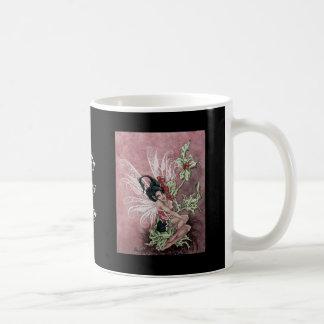 Holly Berry Faery Basic White Mug