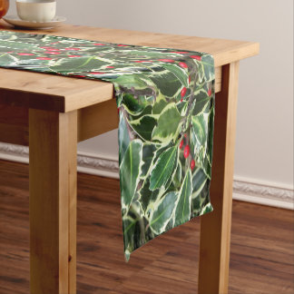 Holly Berry Holiday Short Table Runner