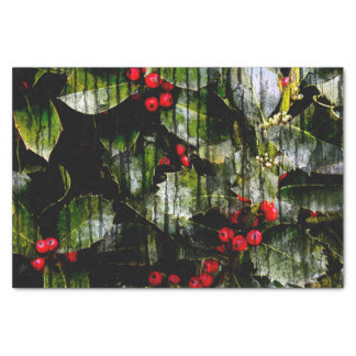 Holly Berry Horizontal Tissue Paper