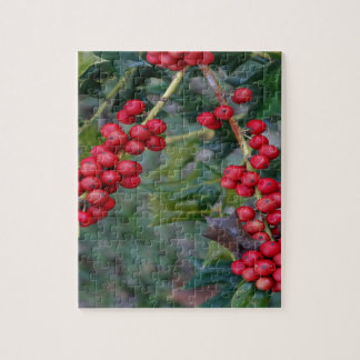 Holly berry jigsaw puzzle