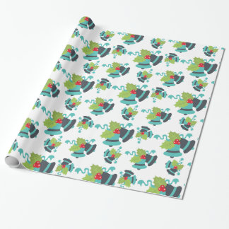Holly Berry Jingle Bells Christmas Wrapping Paper