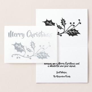 Holly Berry Merry Christmas Foil Card