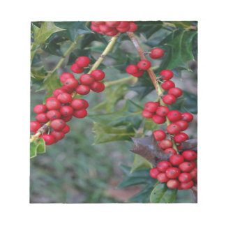 Holly berry notepad