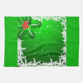 Holly Berry on Ice Kitchen Towel
