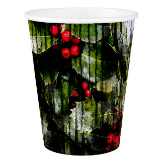 Holly Berry Paper Party Cup Paper Cup