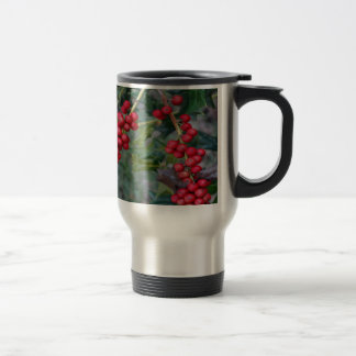 Holly berry travel mug