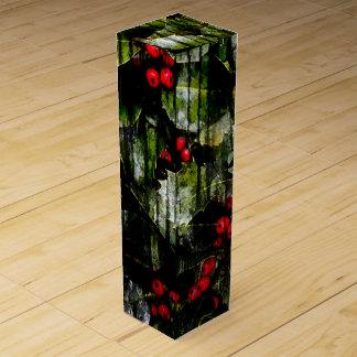 Holly Berry Wine Box