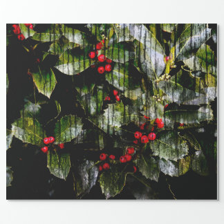 "Holly Berry Wrapping Paper, 30"" x 6' Wrapping Paper"