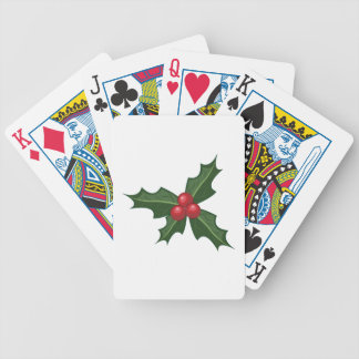 Holly Bicycle Playing Cards