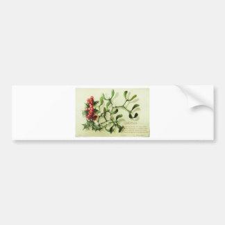Holly_Christmas_card_ Bumper Sticker