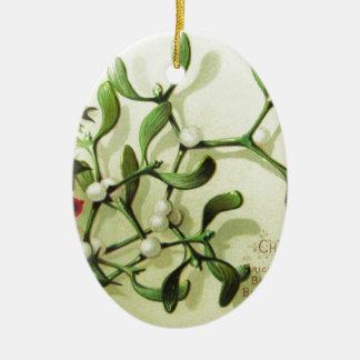 Holly_Christmas_card_ Ceramic Ornament