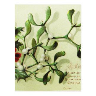 Holly_Christmas_card_ Postcard