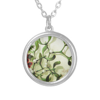 Holly_Christmas_card_ Silver Plated Necklace