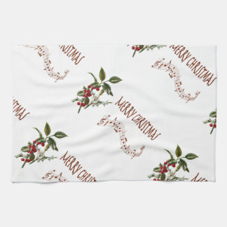 Holly Christmas Kitchen Towel