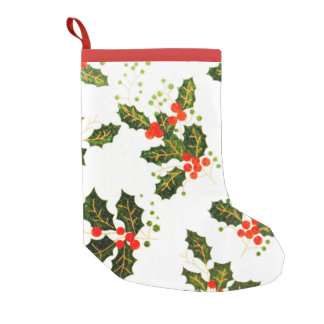 Holly Christmas Stocking