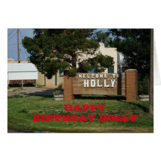 Holly Colorado Birthday Card!! Card
