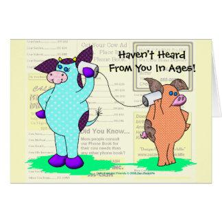 "Holly Cow  ""Call Me!"" Card"