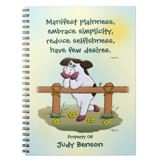 """Holly Cow """"Embrace Simplicity"""" Notebook"""
