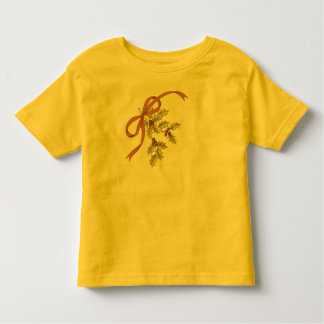 Holly-Day Sketch Holly Berries and Leaves Toddler T-shirt