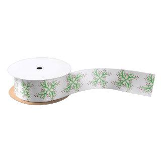 holly design gift wrapping satin ribbon