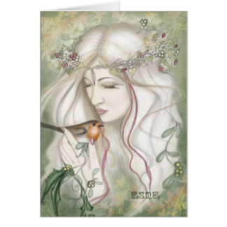 Holly Fairy of Yuletide Card