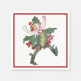 Holly Fairy Paper Napkin