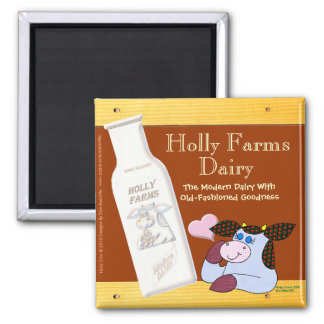 Holly Farms Dairy Square Magnet