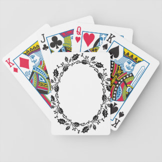 Holly Frame Bicycle Playing Cards