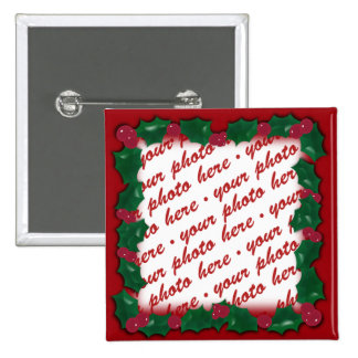 Holly Frame for your Christmas Photo! Buttons