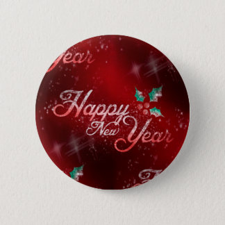 holly happy new year 2 inch round button