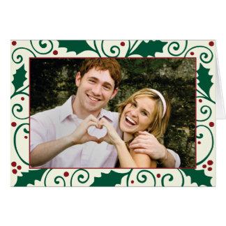 Holly Holiday Photo Greeting Card