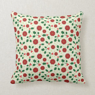 Holly Holiday throw pillow