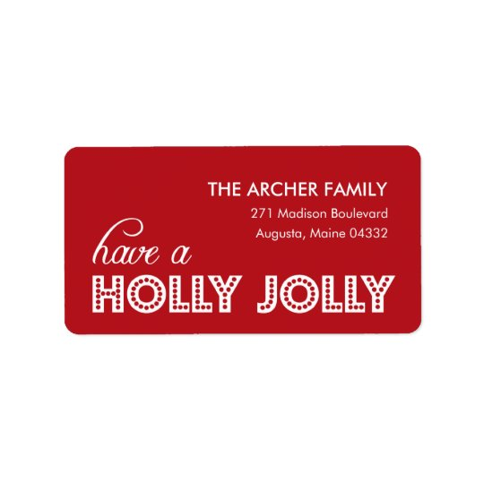 Holly Jolly Address Labels