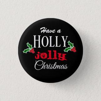 Holly Jolly Christmas button