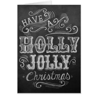 Holly Jolly Christmas Card! Card