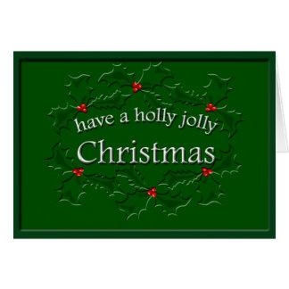 Holly Jolly Christmas Custom GC Card