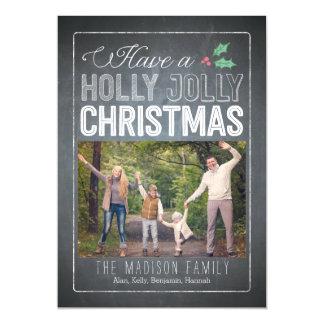 Holly Jolly Christmas Custom Thin Magnetic Card