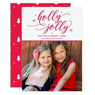 Holly Jolly Christmas Holiday Photo Card